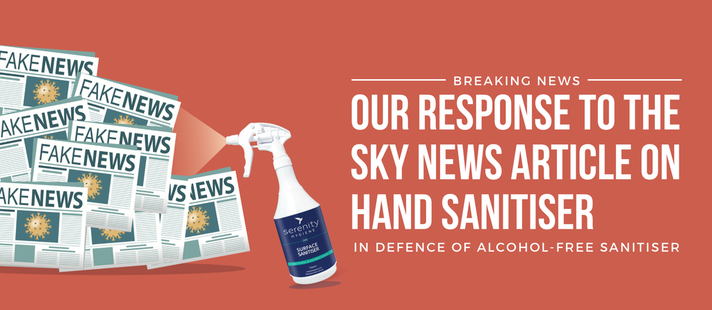 Our response to the Sky News article on hand sanitiser