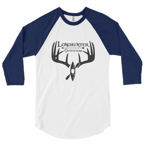 Longhunter Outfitters Logo 3/4 Sleeve T-Shirt