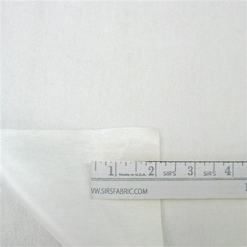 27 Inch PUL Diaper Flannel - White