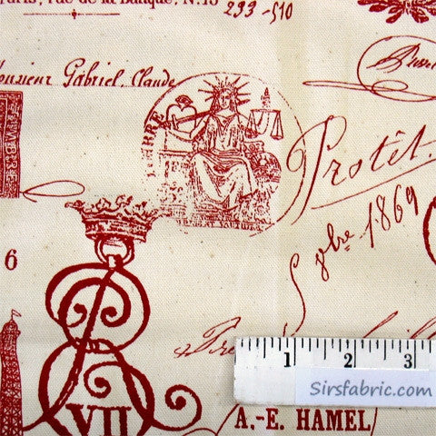 French Stamp - Red