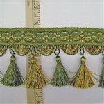 Tassel Fringe Venetian - Loden Green and Gold