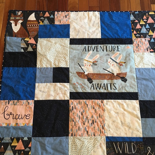 Using a Panel to Make a Quick Baby Quilt by Kathleen