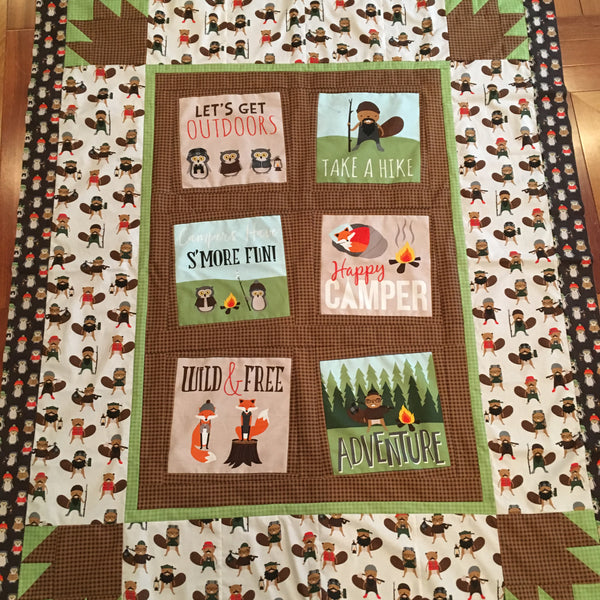 Another Fun Summer Quilt - Campsite Critters.