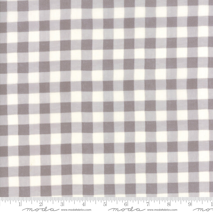 Homegrown - Gingham Plaid in Distressed Whitewash (1/4 metre)