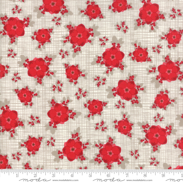 Return to Winter's Lane (Christmas) - Red Flowers in Stone (1/4 metre)