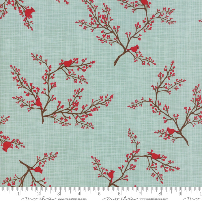 Return to Winter's Lane (Christmas) - Cardinals in Mint (1/4 metre)