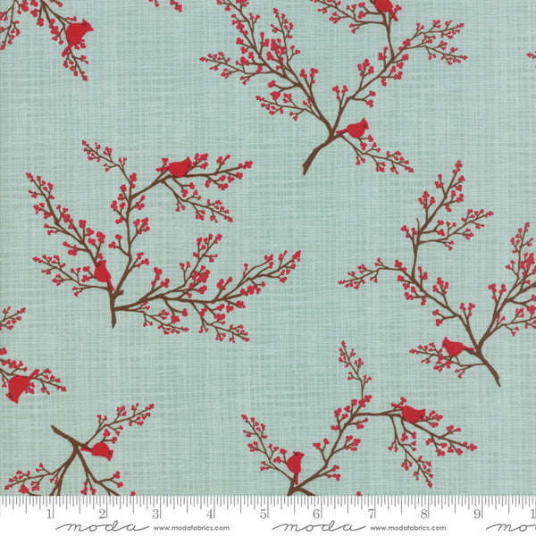 Return to Winter's Lane - Cardinals in Mint (1/4 metre)