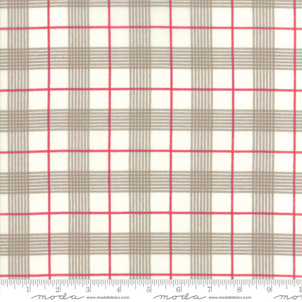 Return to Winter's Lane - Plaid in Snow and Stone (1/4 metre)