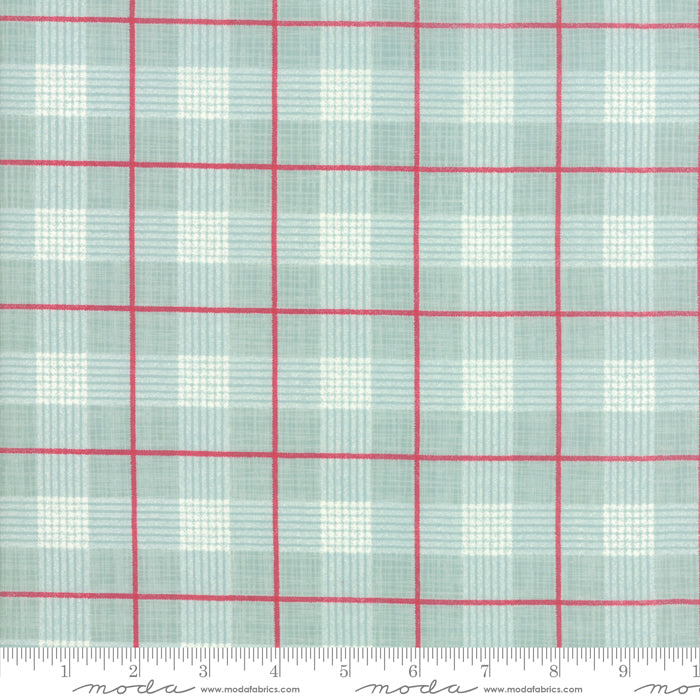 Return to Winter's Lane (Christmas) - Plaid in Red and Mint (1/4 metre)