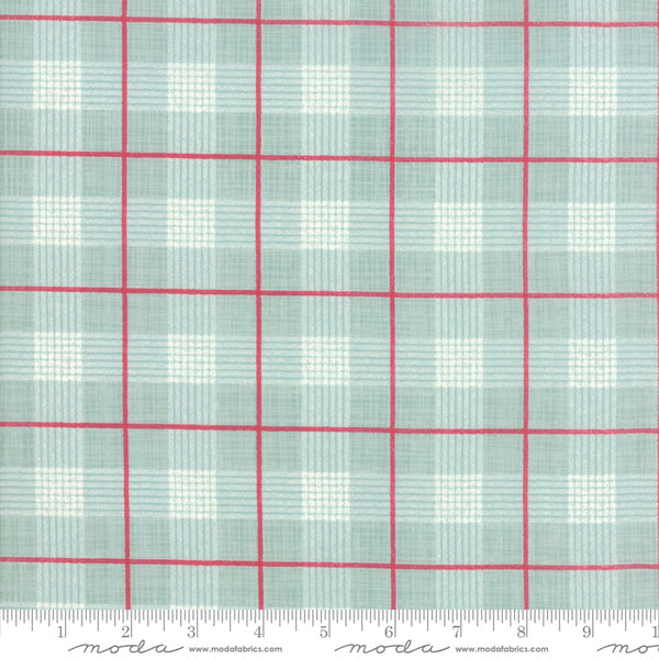 Return to Winter's Lane - Plaid in Red and Mint (1/4 metre)