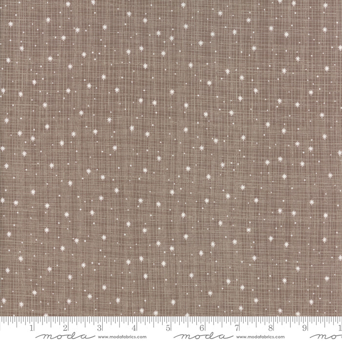 Return to Winter's Lane (Christmas) - Snowflakes in Taupe (1/4 metre)