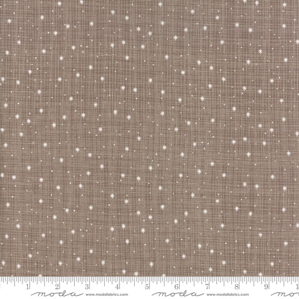 Return to Winter's Lane - Snowflakes in Taupe (1/4 metre)