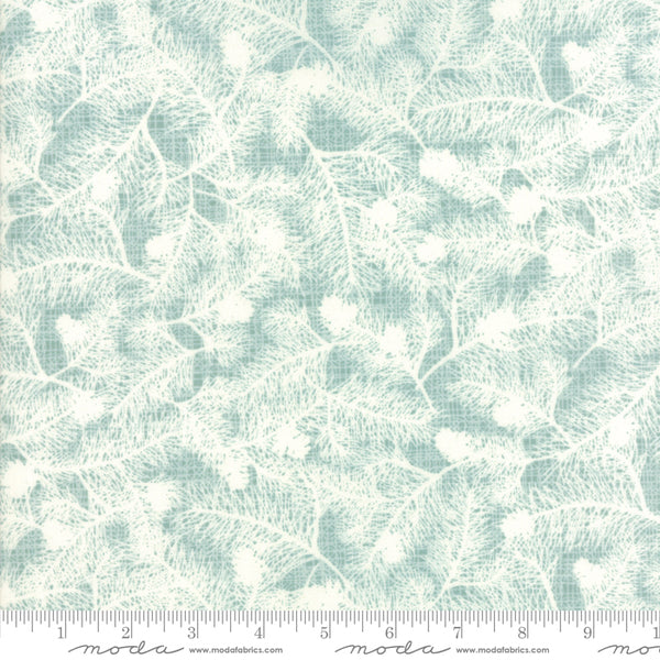 Return to Winter's Lane - Evergreen in Mint (1/4 metre)