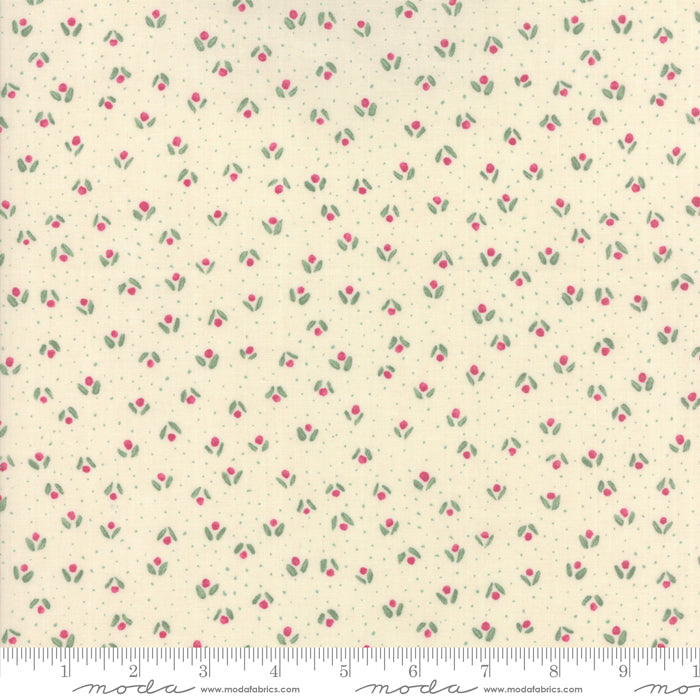Freya and Friends -Little Flowers in Cream (1/4 metre)