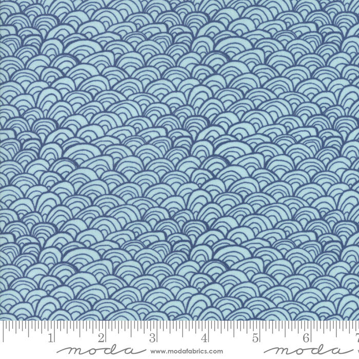 Midnight Garden - Waves in Dusk (1/4 metre)
