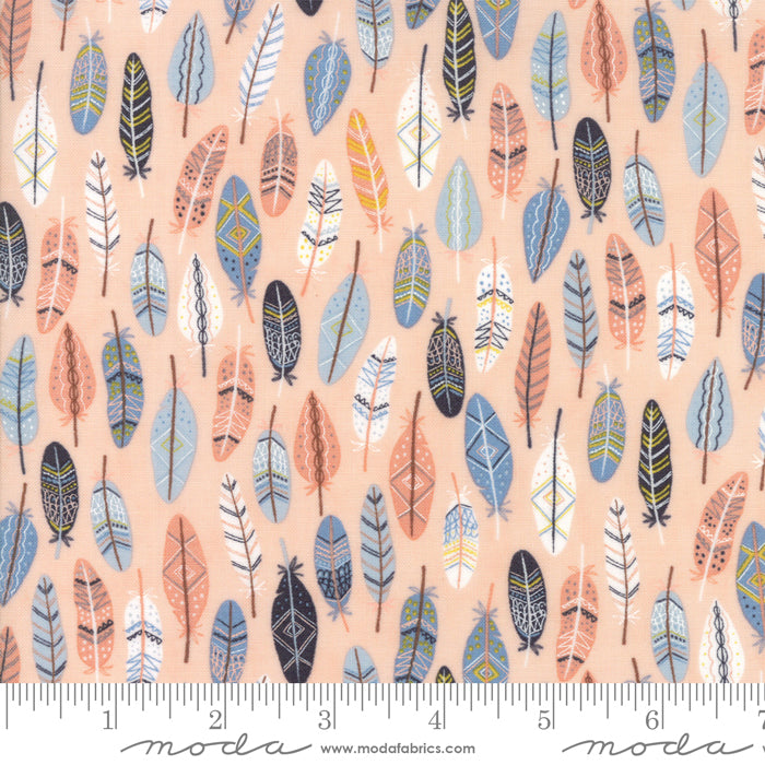 Wild and Free - Feathers in Rosie (1/4 metre)