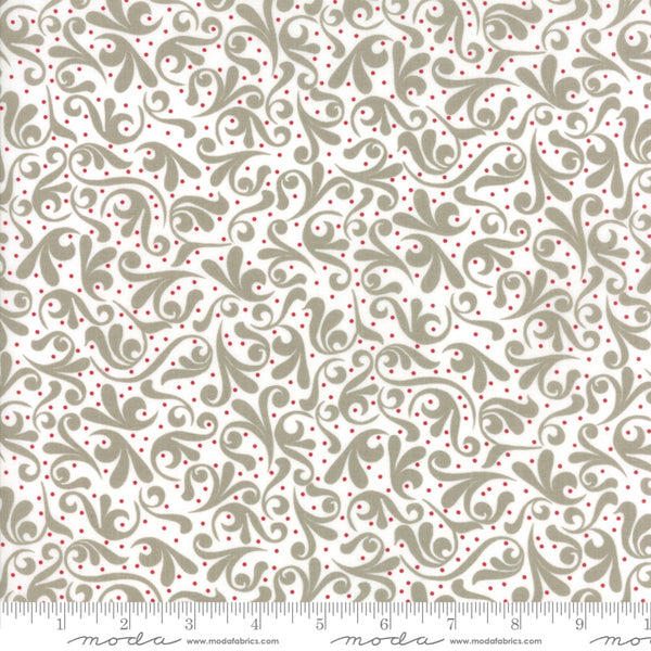 Project Red - Swirl in Taupe, Red and White (1/4 metre)