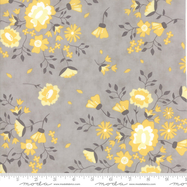 Pepper and Flax - Yellow Flowers in Granite (1/4 metre)