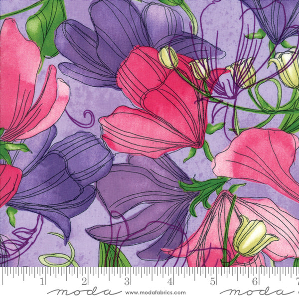 Sweet Pea and Lily - Sweet Peas in Lavender (1/4 metre)