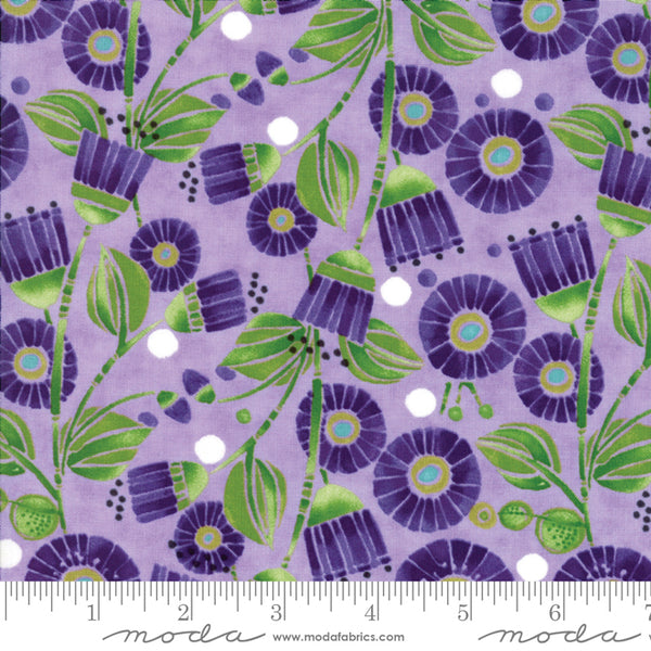 Sweet Pea and Lily - Flowers in Lavender (1/4 metre)