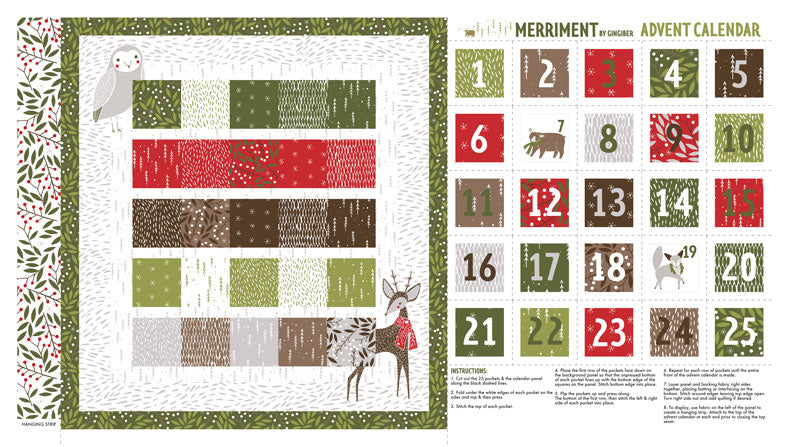 Merriment Advent Panel by Gingiber