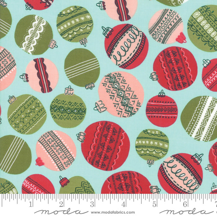 To Be Jolly - Baubles in Frosty (1/4 metre)