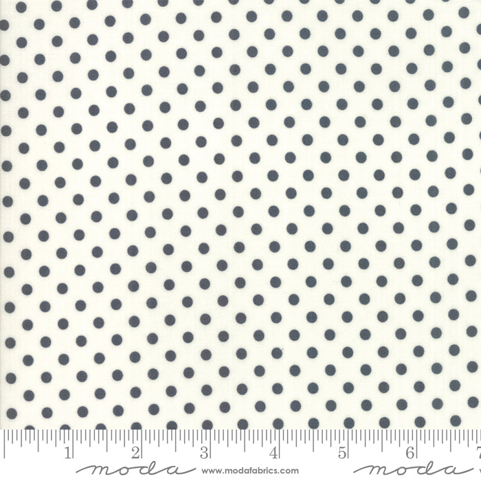 Little Snippets - Dots in Charcoal and Cream (1/4 metre)