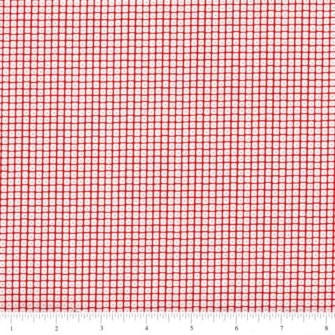 Project Red - Squares in White and Red (1/4 metre)