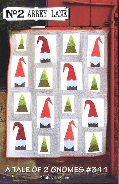 A Tale of Two Gnomes (plus Christmas option) Quilt Pattern