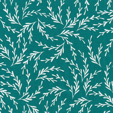 Seaweed in Teal - Reef (1/4 metre)