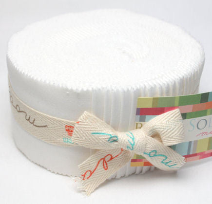 Bella Solids (White) - Jelly Roll