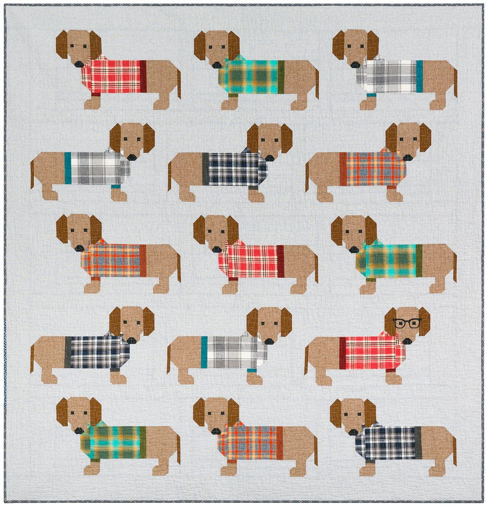Dogs In Sweaters Quilt Pattern Two Flying Geese