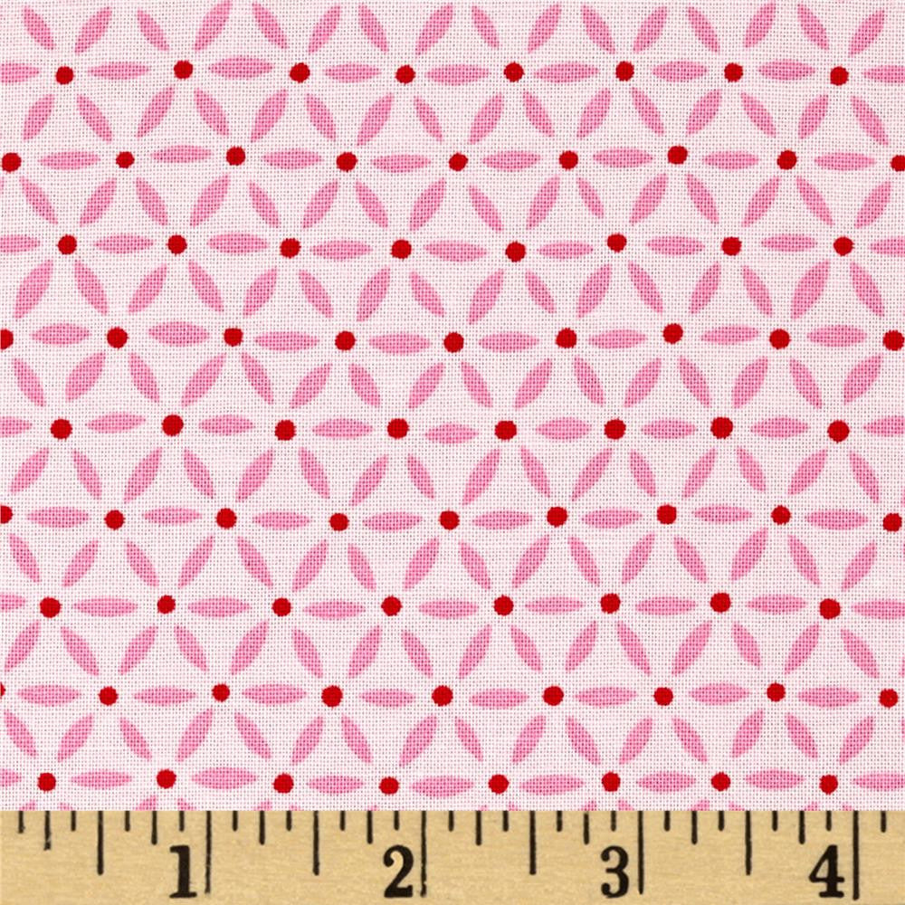 Ever After Flower Lattice - Passionate Pink (1/4 metre)