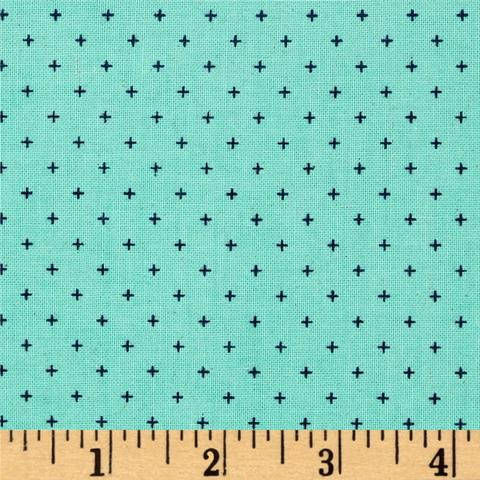 Cotton and Steel Basics - Add it Up Sea Glass (Unbleached) (1/4 metre)