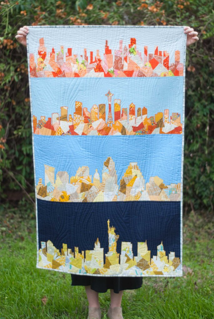 Canadian Skylines Quilt Pattern - Four different cityscape patterns included