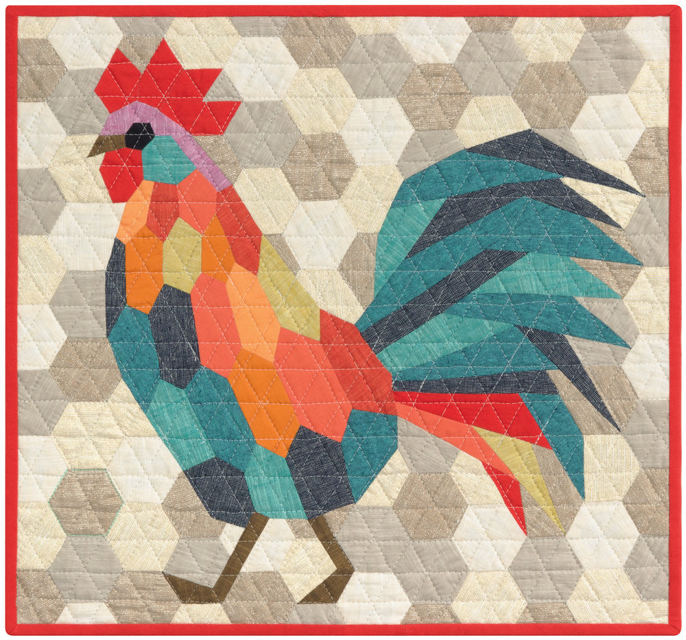 The Rooster - an English Paper Piecing Project