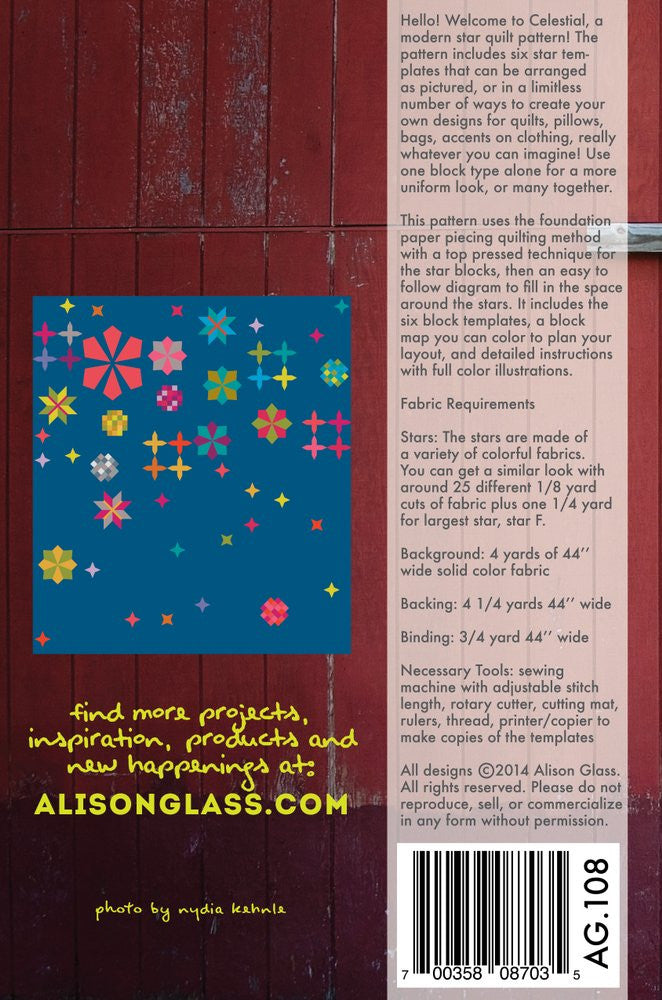 Alison Glass Sew Celestial Quilt Pattern