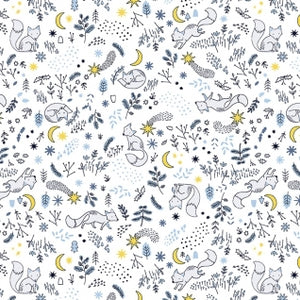 Luna - Fox Tales in White (1/4 metre)