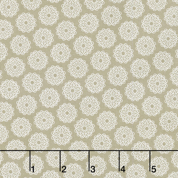 Project Red - Circles in Taupe (1/4 metre)