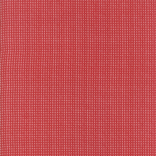 Project Red - Squares in Red and White (1/4 metre)