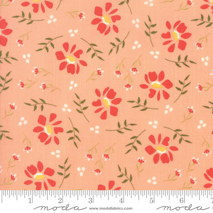 Walkabout - Flowers in Peachy  37561-15 (1/4 metre)