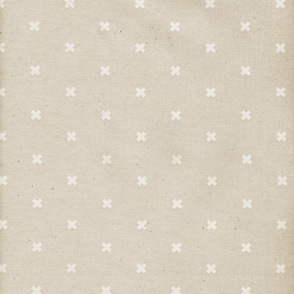 Cotton and Steel Basics - XOXO Natural (Unbleached) (1/4 metre)