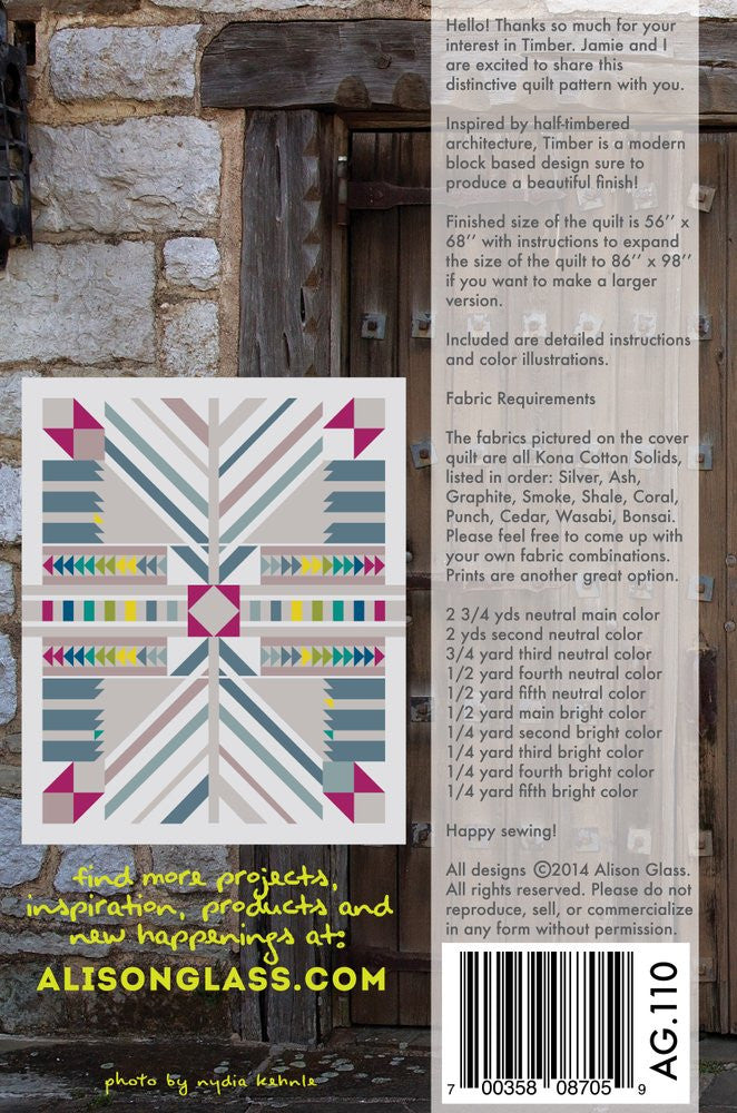 Alison Glass Sew Timber Quilt Pattern
