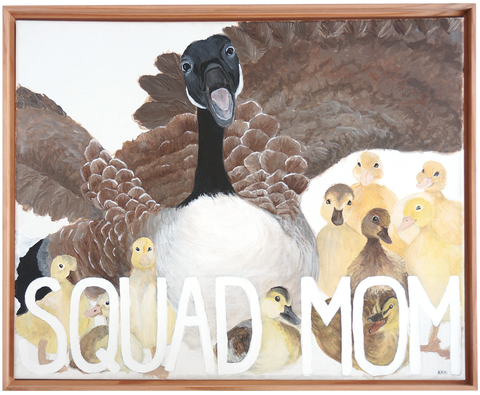 SQUAD MOM Original Painting