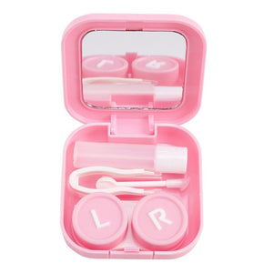 Pink multi-purpose travel contact lens case