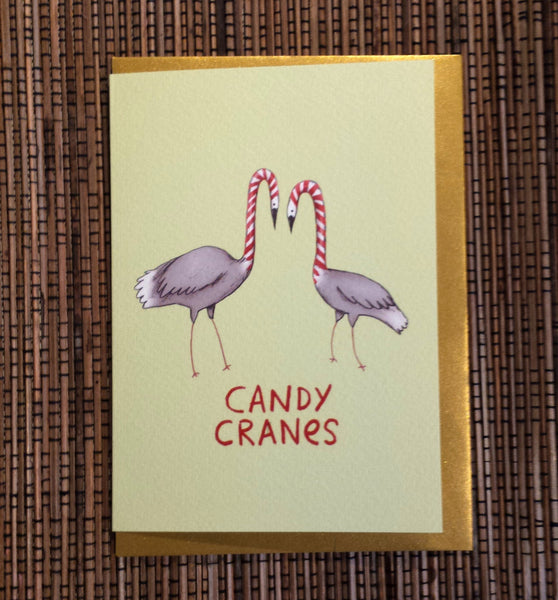 Candy Cranes Card