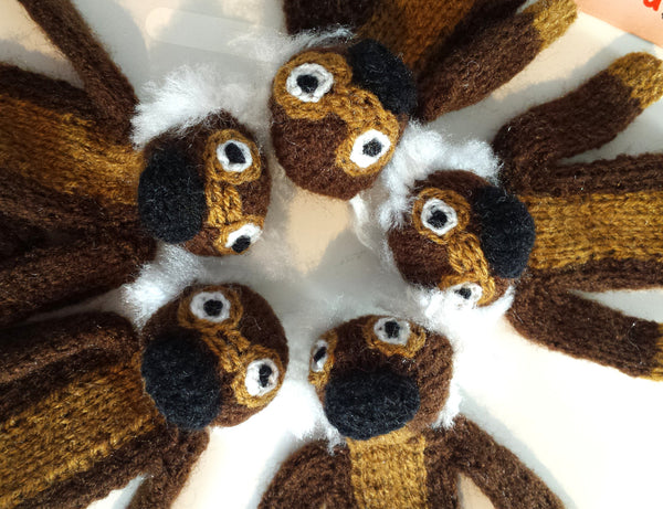 Squirrel Monkey Finger Puppet