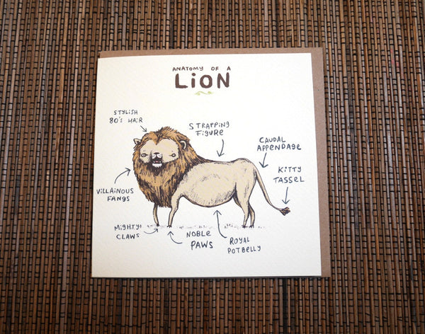 Anatomy Of A Lion Card