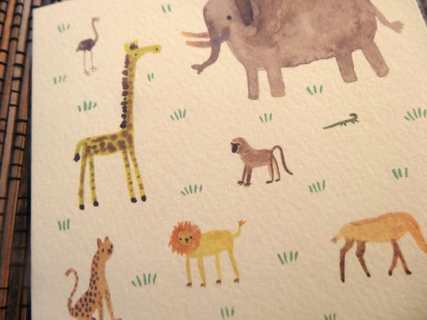 African Animals Card