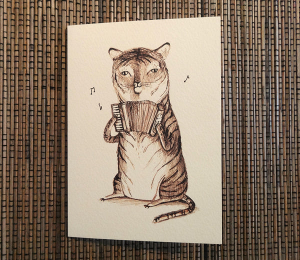 Accordion Tiger Card